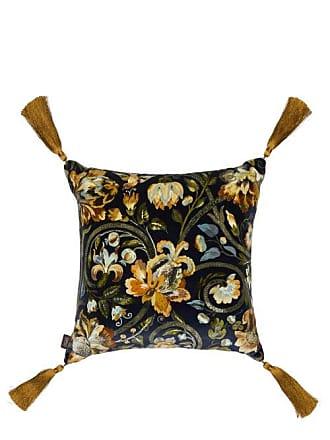House of Hackney Gaia Floral-print Cotton-velvet Cushion - Dark Blue