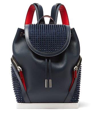2416bf2b945 Christian Louboutin Explorafunk Spike Embellished Leather Backpack - Mens -  Blue