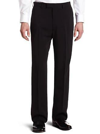 Haggar Mens Metro Gab Plain Front Dress Pant,Black,36 / 30