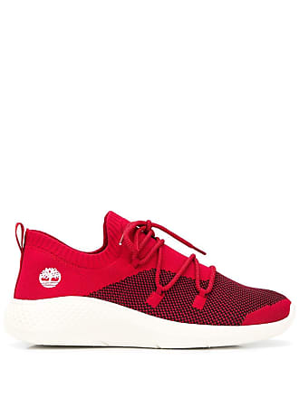 Timberland knitted lace-up sneakers - Red