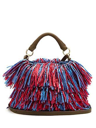 8f16a9f51787b Diane Von Fürstenberg Raffia Fringe Bucket Bag - Womens - Pink Multi
