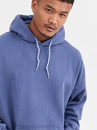 Reclaimed Vintage inspired oversized hoodie in navy overdye