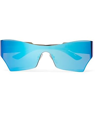 cb8e7a7a60530 Balenciaga Cat-eye Acetate Mirrored Sunglasses - Blue