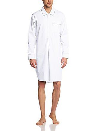 31206b6424 Seidensticker Nachthemd 1/1, Camicia pigiama da uomo, bianco (Wei (weiss