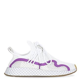 adidas Originals Deerupt S white and fuchsia sneakers