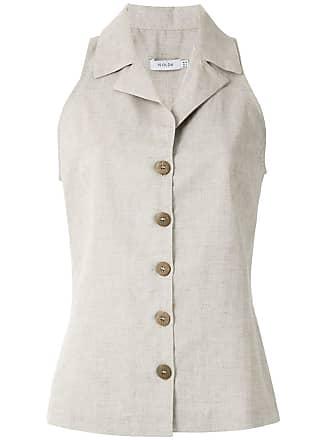 Isolda Regata camisa com abotoamento - Neutro