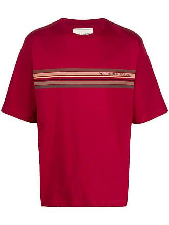 Youths in Balaclava Camisa de algodão com recortes de listras - Vermelho