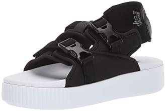 Puma Womens Platform Slide YLM Sandal, Black Whit, 5 M US
