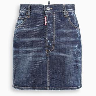 Jeans Femmes Rock Elegant Genou Long Casual Mini Stretch Skirt DETERIORE franges