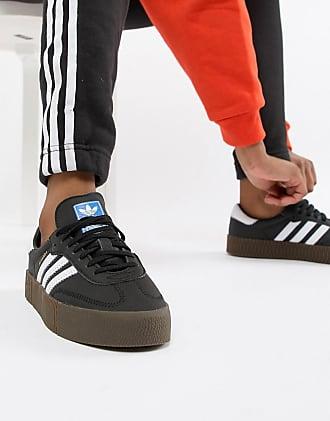 adidas Originals black and white gum sole Samba Rose sneakers