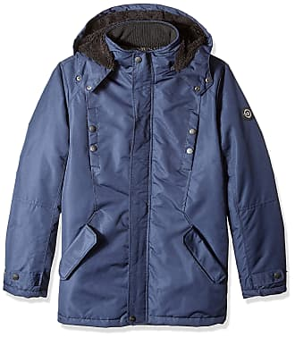 Navy Combo Urban Republic Attached Hood Jacket Mens Soft Shell M