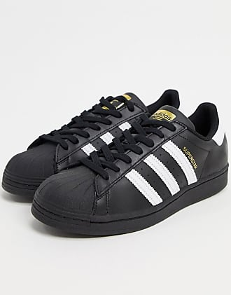 adidas Originals Superstar sneakers in black