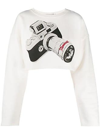 Fiorucci Camera-print cropped top - Branco