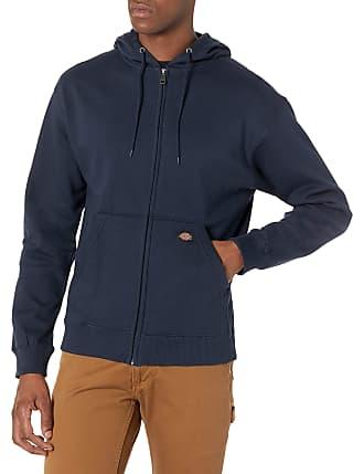Dickies Mens Redwood Polycotton Full Zip Lined Hooded Sweatshirt