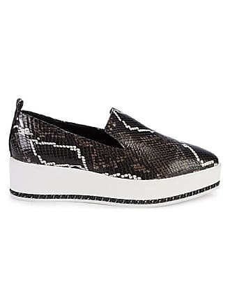 Karl Lagerfeld Brea Snakeskin-Embossed Leather Platform Loafers