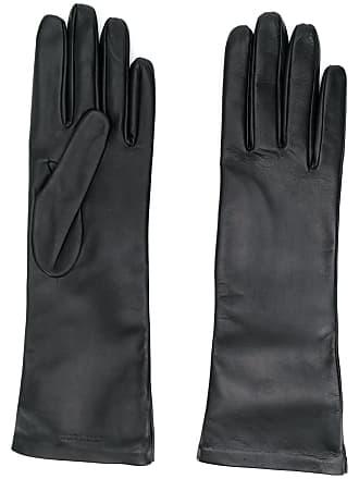 Saint Laurent logo-debossed 5-finger gloves - Preto