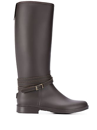 PESERICO crossover strap buckle boots - Marrom
