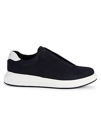Karl Lagerfeld Perforated Slip-On Suede Sneakers