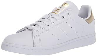 adidas Originals womens Stan Smith Sneaker, White/White/Gold Metallic, 9.5 US