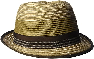 Henschel Hats Mens Crushable Fedora with Braided Strips and Grosgrain Bow Band Fedora