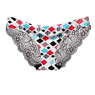 Abetteric Calcinha feminina Abetteric de renda macia, sem aro, de algodão, cintura baixa, pacote com 3, 10, US X-S=China S