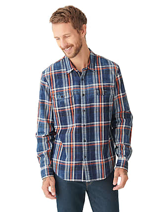 Mens XL blue flannel button up shirt SCI String Cheese Incident Fox Theater GA 420-2103