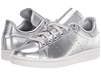 adidas Originals Stan Smith (Silver/Silver/Crystal White) Womens Tennis Shoes