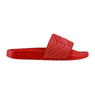 Gucci Mens matelassé rubber slide