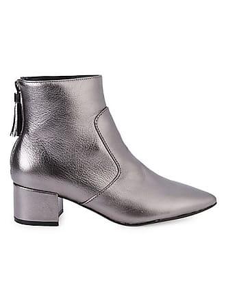 Karl Lagerfeld Maude Metallic Ankle Boots