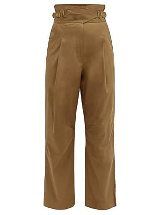 Zimmermann Fleeting Tuck PantsGold Tapered High Waisted Trousers $800 RRP