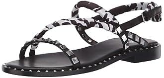 39 M EU Black//Black//White 9 US Ash Womens AS-Pattaya Flat Sandal