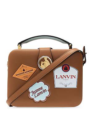 Lanvin Branded Shoulder Bag Womens Brown
