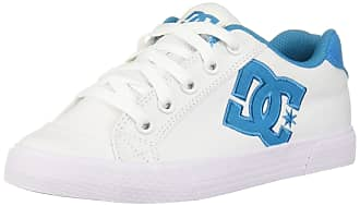 DC Womens Chelsea TX Skate Shoe White//Blue Jay 8.5 Medium US