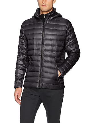 PWYXSA Mens Hooded Packable Down Jacket Puffer Coat Lightweight Winter Padded Outwear Hiking Quilted Down Parka