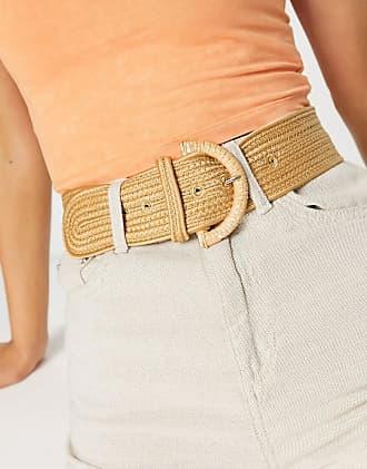 Women Fashion Noir Ceinture Hip Taille Large stretch en cuir synthétique boucle dorée S M