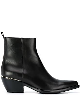 PESERICO pointed toe ankle boots - Preto