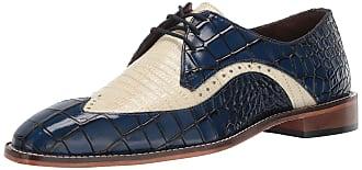 Stacy Adams Rivello Leather Sole Men BLue Multi Cap Toe Lace up Shoes 25048-400
