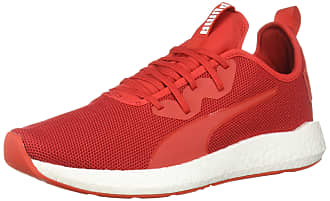 puma red and white shoes