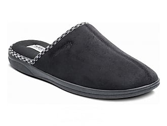 Padders BAXTER Mens Warm Felt//Microsuede Wide Touch Close Slip On Mule Slippers