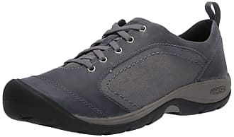 KEEN Presidio Womens Hiking Shoe Sneaker Black Pebble Leather /& Suede Size 6.5