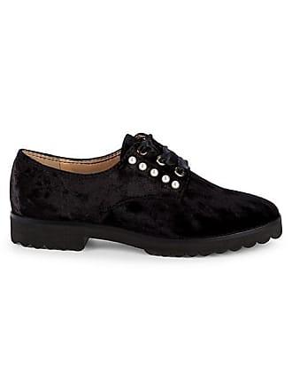 Karl Lagerfeld Velvet Pearl Studded Loafers