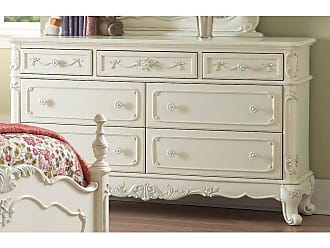 Benzara Mirror Cabinet with 5 Drawers and 2-56678