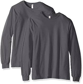 3XLarge Fruit of The Loom New Long Sleeve Men/'s Assorted Colour t-shirts Size S