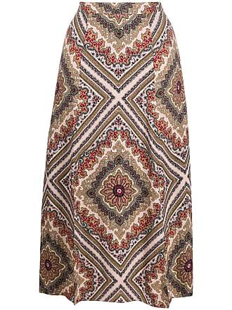 Michael Michael Kors geometric-print midi skirt - Rosa