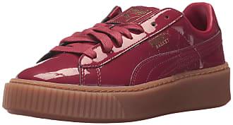 Puma Womens Basket Platform Patent Wn, Tibetan Red-Tibetan Red, 9 M US