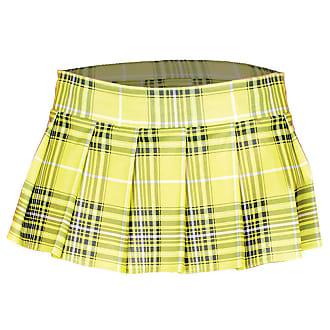 New Music Legs 25074 Mini Plaid Skirt