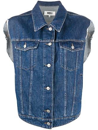 Maison Margiela Colete jeans com botões - Azul