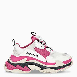 Balenciaga Sneaker Triple S bianca e rosa