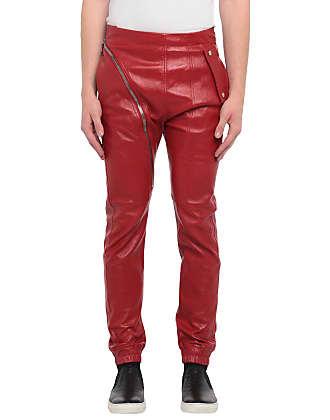Pantaloni in Pelle Pantaloni in Pelle Marrone Uomini Nuovi Jeans in pelle/'S Bianco Cucitura