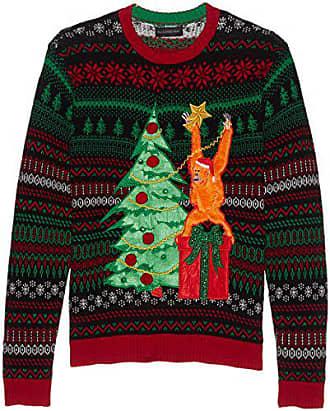 Blizzard Bay Mens Divine Santa Crew Neck Ugly Xmas Suit Jacket